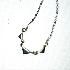 WHBM Silver Tri Necklace